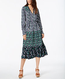MICHAEL Michael Kors Mixed-Print Dress In Regular & Petite Sizes