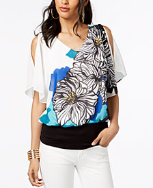 Thalia Sodi Flutter-Sleeve Top, Created for Macy's