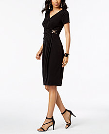 Thalia Sodi Embellished Wrap Dress, Created for Macy's