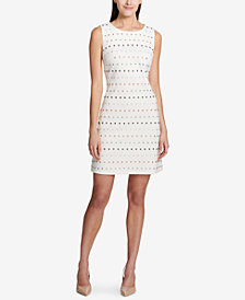 Tommy Hilfiger Embellished Ponté-Knit Shift Dress
