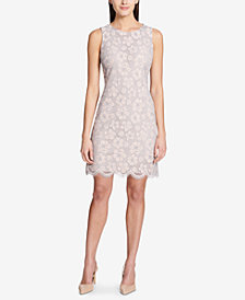 Tommy Hilfiger Lotus Flower Lace Shift Dress