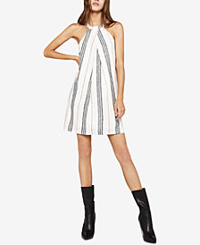 BCBGeneration Pleated Striped A-Line Dress