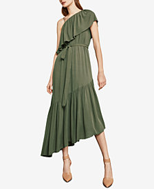 BCBGMAXAZRIA Conrad Off-The-Shoulder Asymmetrical Dress