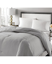 Royal Luxe Luxury Damask Stripe Full/Queen Down & Feather Comforter