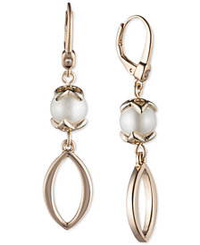 Ivanka Trump Gold-Tone Imitation Pearl Drop Earrings