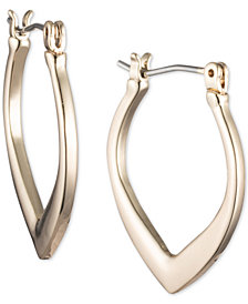 Ivanka Trump Gold-Tone Tapered Hoop Earrings