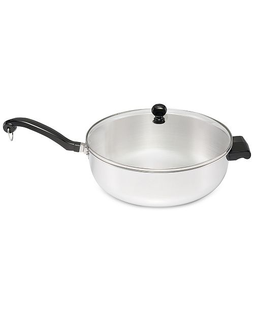 Farberware Classic Series Stainless Steel Jumbo 6-Qt. Chef's Pan & Lid