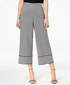 Zoe by Rachel Zoe Houndstooth-Print Culotte Pants, Created For Macy's