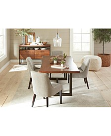 Everly Dining 5-Pc. Set (Table & 4 Square Back Side Chairs), Created for Macy's