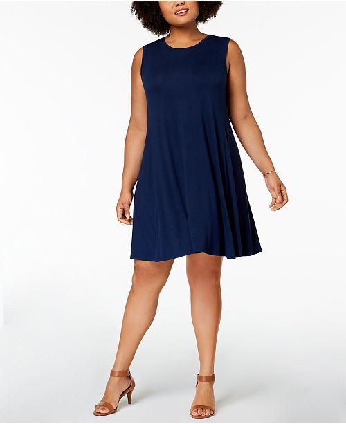 Style & Co Plus Size Swing Dress, Created for Macy\'s & Reviews ...