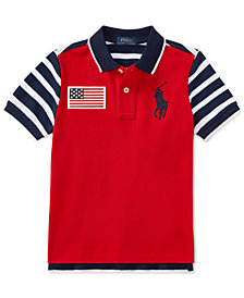 Polo Ralph Lauren Cotton Mesh Polo Shirt, Toddler Boys