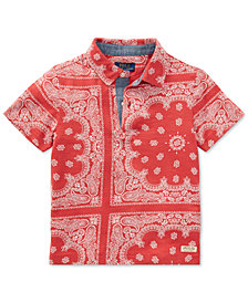 Polo Ralph Lauren Bandanna-Print Cotton Polo, Toddler Boys