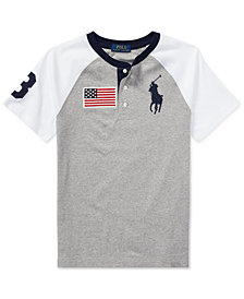 Polo Ralph Lauren Little Boys Cotton Jersey Henley Shirt