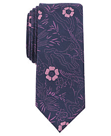 Bar III Men's Nives Floral Tie, Created for Macy's
