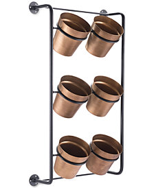 Zuo Wall of Gold-Tone Planters