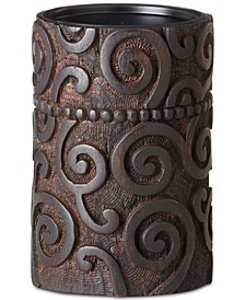 Ink & Ivy Pacheco Carved Wood & Iron Medium Candle Holder