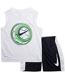 Nike Little Boys 2-Pc. Soccer-Print Muscle Tank & Shorts Set