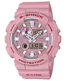 G-Shock Men's Analog-Digital Light Pink Resin Strap Watch 51.2mm