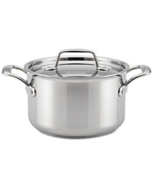 Thermal Pro Clad Stainless Steel 4-Qt. Saucepot & Lid