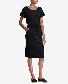 Lauren Ralph Lauren French Terry Flutter-Sleeve Dress