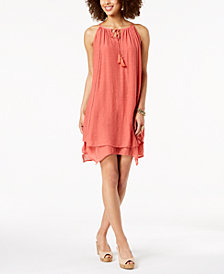 Style & Co Handkerchief-Hem Sleeveless Dress, Created for Macy's