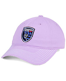 adidas San Jose Earthquakes Pink Slouch Cap