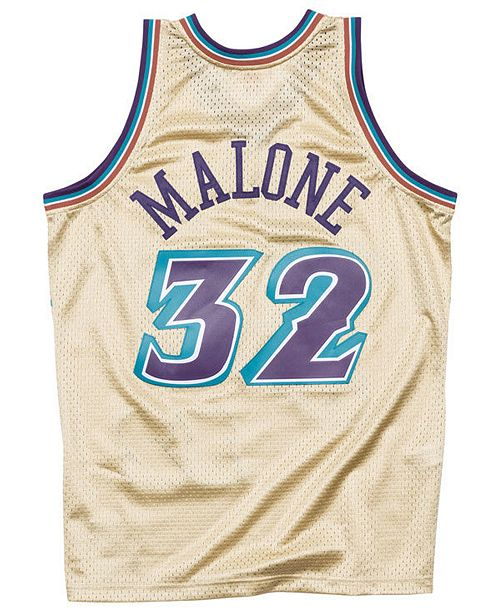 san francisco 94a66 f923e Mitchell & Ness Men's Karl Malone Utah Jazz Gold Collection ...