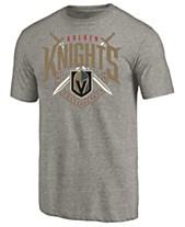 51396f262937 Majestic Men s Vegas Golden Knights Tri Blend Team Logo T-Shirt
