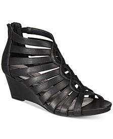 Victoria Strappy Wedge Sandals