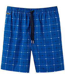 Lacoste Men's Signature-Print Cotton Pajama Shorts