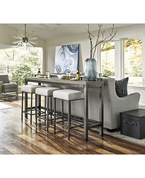 Furniture Channing 4 Pc Table Set Console 3 Stools