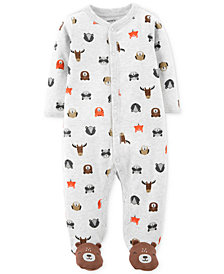 Carter's Baby Boys Animal-Print Bears Footed Cotton Coverall