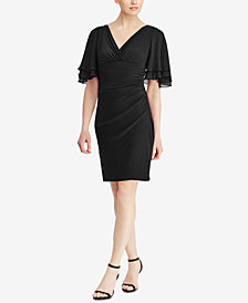 Lauren Ralph Lauren Flutter-Sleeve Dress