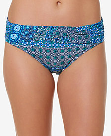 Bleu by Rod Beattie Printed Foldover Hipster Bikini Bottoms