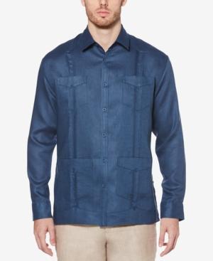100% Linen Long Sleeve Guayabera Shirt