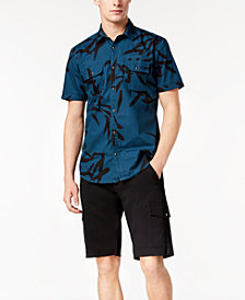 I.N.C. Geometric Print Shirt & Cargo Shorts, Created for Macy's