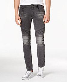 I.N.C. Men's Zig Zag Moto Skinny Jeans, Created for Macy's