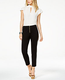 Zoe by Rachel Zoe Mock-Neck Top, Skinny Pants & Claire Platform Dress Sandals, Created For Macy's