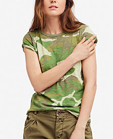 Free People Camo Clare Printed T-Shirt