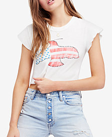 Free People Flag Graphic Cropped T-Shirt