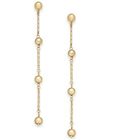 I.N.C. Gold-Tone Ball & Crystal Linear Drop Earrings, Created for Macy's