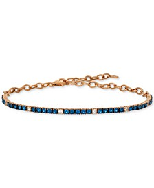 Blueberry (1-1/3 ct. t.w.) & Vanilla (1/5 ct. t.w.) Sapphire Bracelet in 14k Rose Gold (Also Available In Ruby)