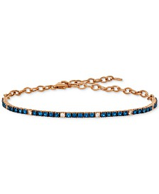 Le Vian® Blueberry (1-1/3 ct. t.w.) & Vanilla (1/5 ct. t.w.) Sapphire Bracelet in 14k Rose Gold (Also Available In Ruby)