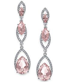 I.N.C. Gold-Tone Crystal & Stone Triple Drop Earrings, Created for Macy's
