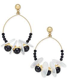 I.N.C. Gold-Tone Bead, Disc & Stone Shaky Drop Earrings, Created for Macy's
