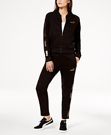 Puma Metallic-Logo Track Jacket & Pants