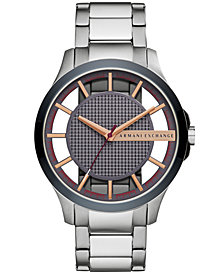A|X Armani Exchange Men's Stainless Steel Bracelet Watch 46mm