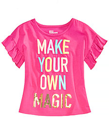 Epic Threads Toddler Girls Ruffle-Sleeve T-Shirt, Created for Macy's