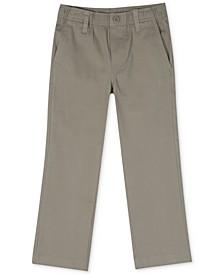 Little Boys Pull-On Twill Pants