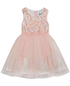 Rare Editions Little Girls Embroidered Sequin Ballerina Dress